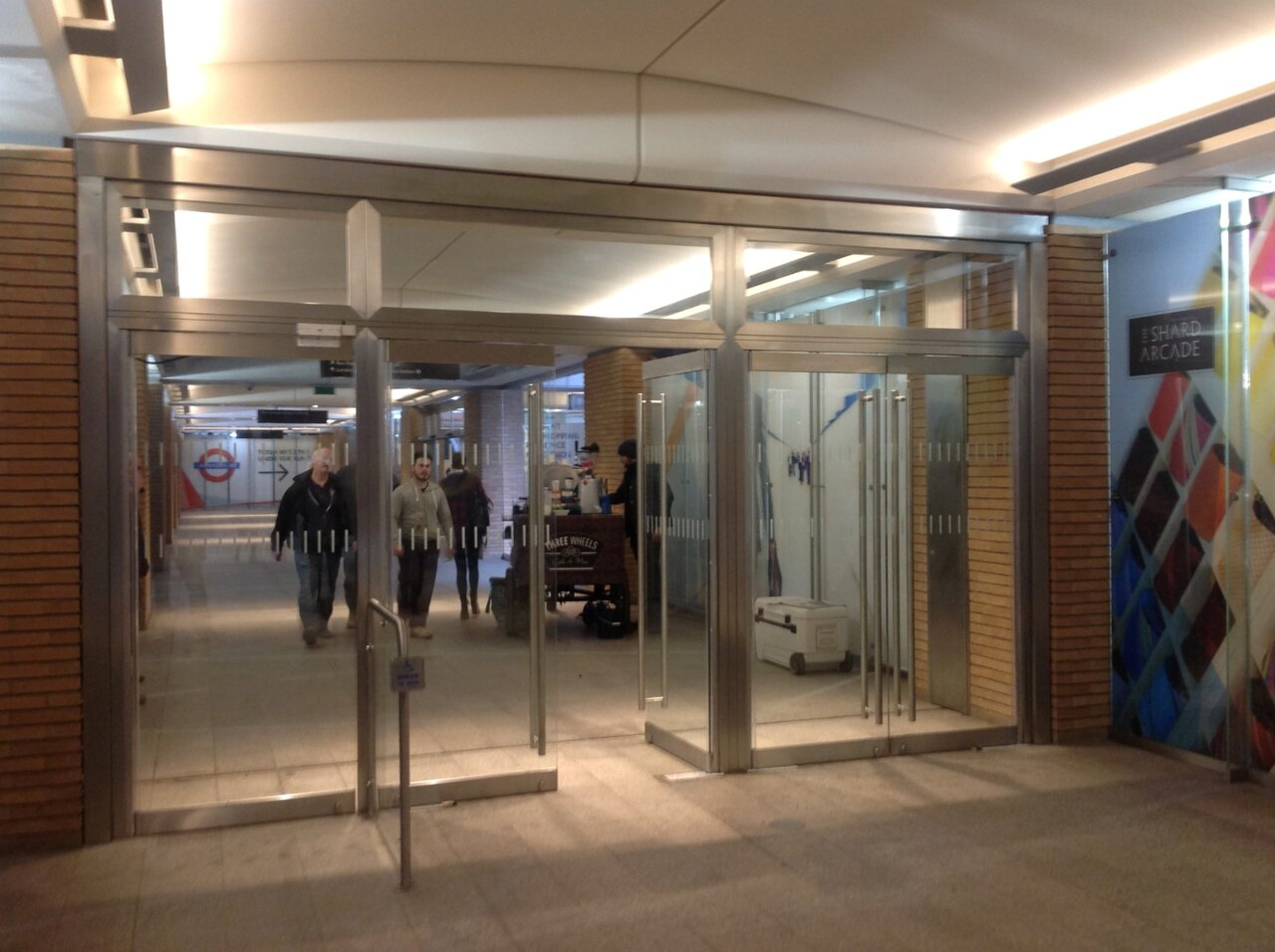 The Shard Shopping Arcade in London - swing door & automatic opening swing doors
